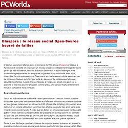 Diaspora : le réseau social Open-Source bourré de failles