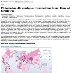 Phénomène diasporique, transnationalisme, lieux et territoires