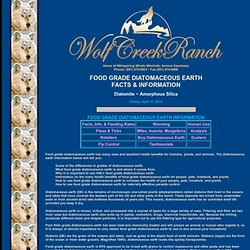Diatomaceous Earth - Food Grade Diatomaceous Earth Health Benefits