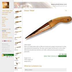 "Dibber ""MAIA"" - PKS Bronze - Copper Gardening Tools Viktor Schauberger"