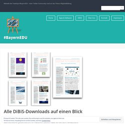 Alle DiBiS-Downloads auf einen Blick