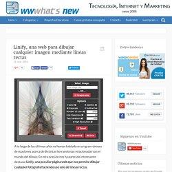 Linify, una web para dibujar cualquier imagen mediante líneas rectas