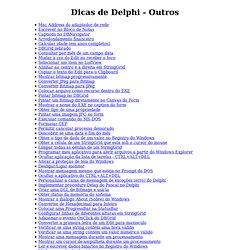 Dicas de Delphi - Outros