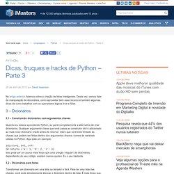 Dicas, truques e hacks de Python - Parte 3