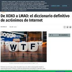 De XOXO a LMAO: el diccionario definitivo de acrónimos de Internet