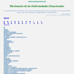 Diccionario de las Enfermedades Emocionales