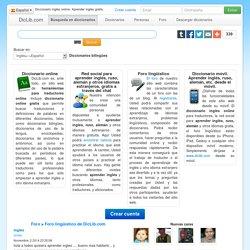 Diccionario inglés online. Cómo aprender inglés o ruso gratis