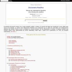 Pelayo García Sierra / Diccionario filosófico / Manual de materialismo filosófico