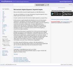 Diccionario Ingles-Español WordReference