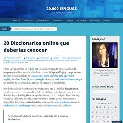 20 Diccionarios online que deberías conocer