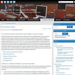 Diccionarios online » Propuestas TIC para el área de Lengua