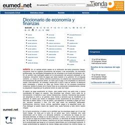 Diccionarios, glosarios, vocabularios y catálogos de términos relacionados con la teoría económica, las finanzas y el comercio