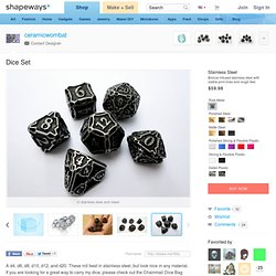 Dice Set by ceramicwombat on Shapeways