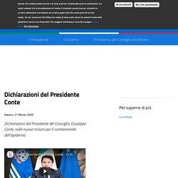 Déclarations du président Conte
