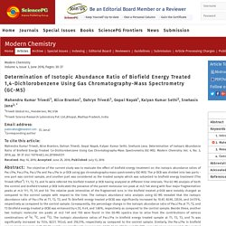 An Experimental Study on Biofield Energy Treated 1,4-Dichlorobenzene