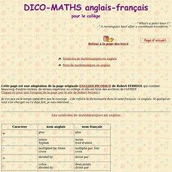 DICO-MATHS anglais-français