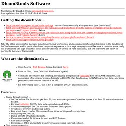 Dicom3tools Software