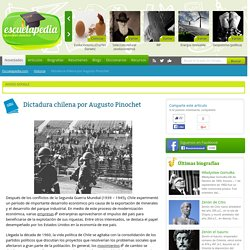 Dictadura chilena por Augusto Pinochet