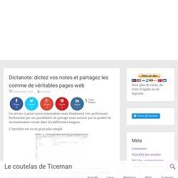 Dictanote: dictez vos notes et partagez les comme de véritables pages web