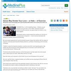 of Exercise: MedlinePlus Health News
