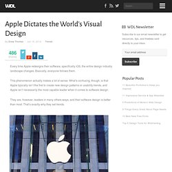 Apple Dictates the World's Visual Design
