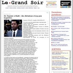 De Tunisie à Haïti : des dictateurs trop peu inquiétés par Sophie PERCHELLET,Damien MILLET