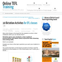 10 Dictation Activites for EFL classes ← Online TEFL Training