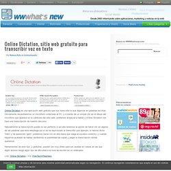 Online Dictation, sitio web gratuito para transcribir voz en texto