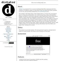 dictator homepage