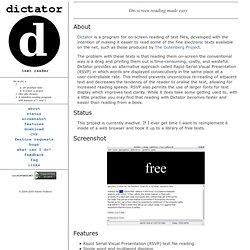 dictator homepage