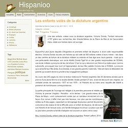 Les enfants volés de la dictature argentine