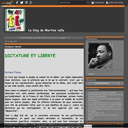 Dictature / liberté - Martine Valla