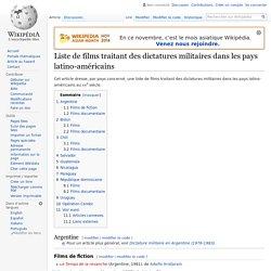 Liste de films traitant des dictatures militaires dans les pays latino-américains