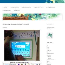 Dictée muette Montessori par Christine