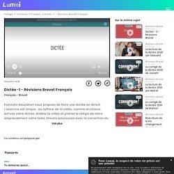 Dictée -1 - Révisions Brevet Français - Vidéo Français