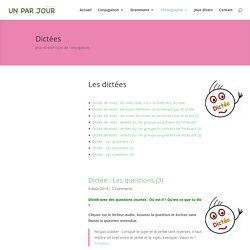 Dictées de mots et de phrases. Apprendre le français en ligne