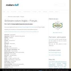 Dictionaire couture Anglais - Français