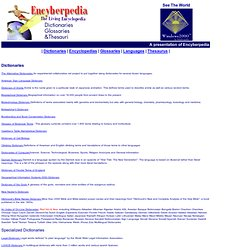 Glossaries and Dictionaries by Encyberpedia