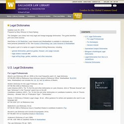 Legal Dictionaries — Gallagher Law Library