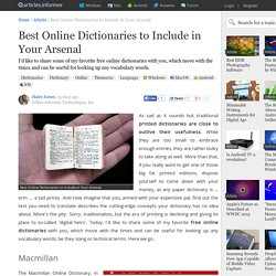 Best Online Dictionaries to Include in Your Arsenal