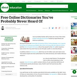 Free Online Dictionaries You've Probably Never Heard Of - Seven Specialized Dictionaries on the Web
