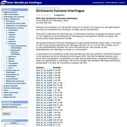 Dictionario francese-interlingua
