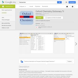 Oxford Chemistry Dictionary Tr – Applications Android sur Google Play