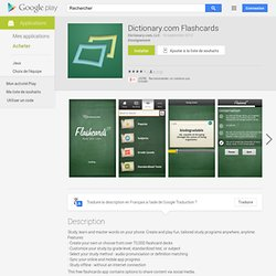 Dictionary.com Flashcards - Aplicações no Android Market