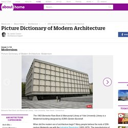 Modernism - Picture Dictionary of Modern Architecture