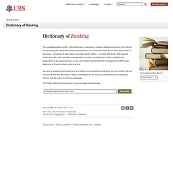 UBS Banking Dictionary