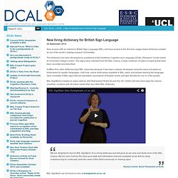 New living dictionary for British Sign Language