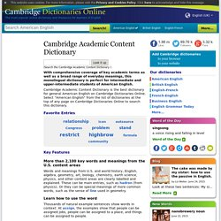 Cambridge Academic Content Dictionary (US)