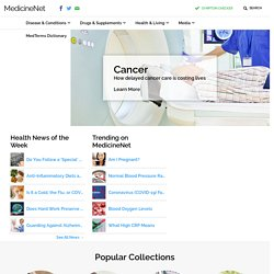 Medical Dictionary definitions of popular medical terms easily defined on MedTerms