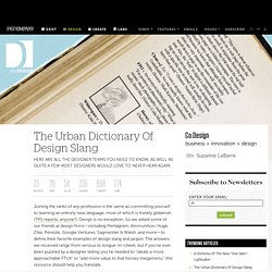 The Urban Dictionary Of Design Slang